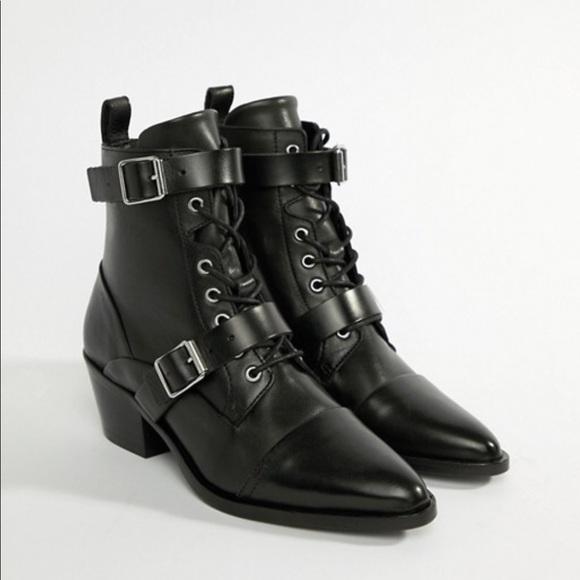 d4be07128b6 All Saints Shoes - AllSaints Lucy buckle boot size 37 (US 7)